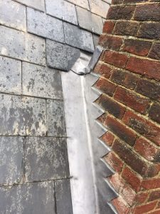 Lead work repairs to a roof in Swindon, Wiltshire.